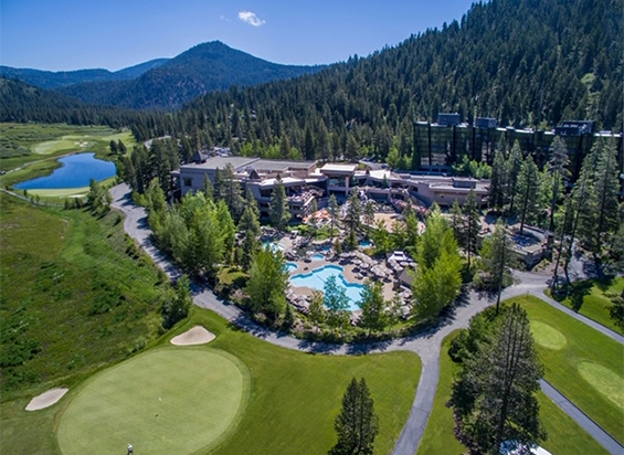 Tahoe North Shore from the East Shore Amdaana 42nd confrence California Resort at Squaw Creek Exterior Aerial View med rez